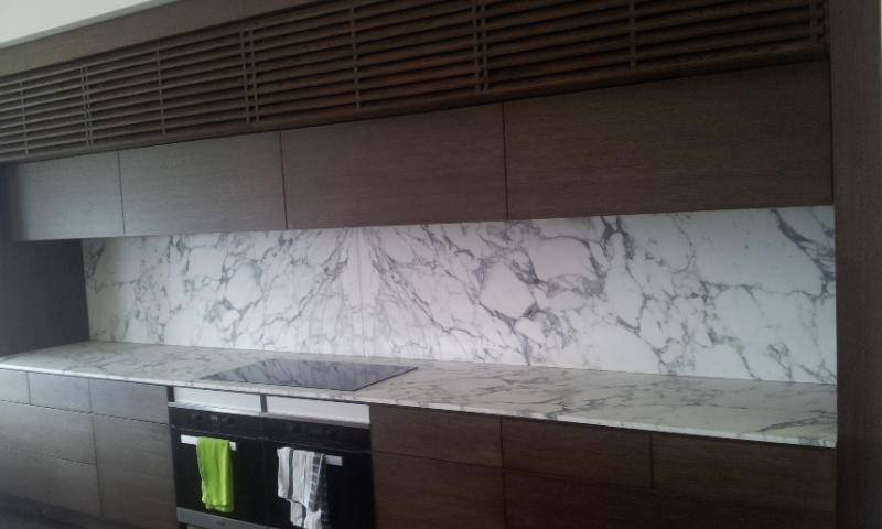 Ararbescato Marble Benchtop and Splashback