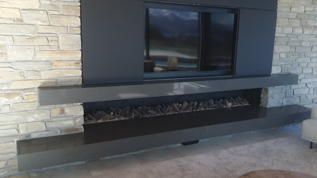 Caesarstone Raven Fire Hearth